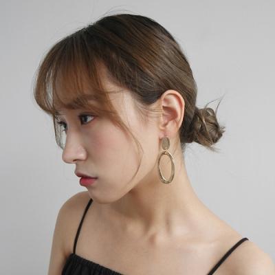 Luminous oval objet earrings
