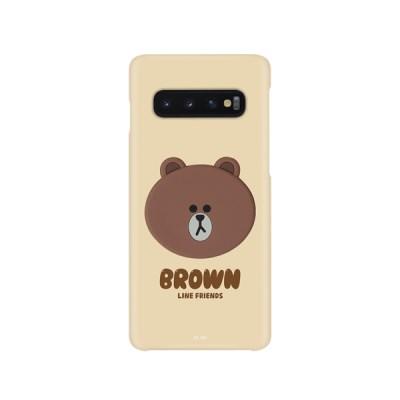 라인프렌즈 송풍구 거치 케이스 컬러 슬림핏 브라운 갤럭시s10+