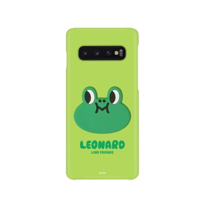 라인프렌즈 송풍구 거치 케이스 컬러 슬림핏 레너드 갤럭시s10+