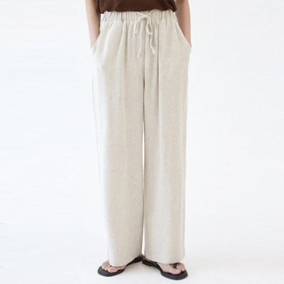 FRESH A cozy linen banding pants_(1273542)