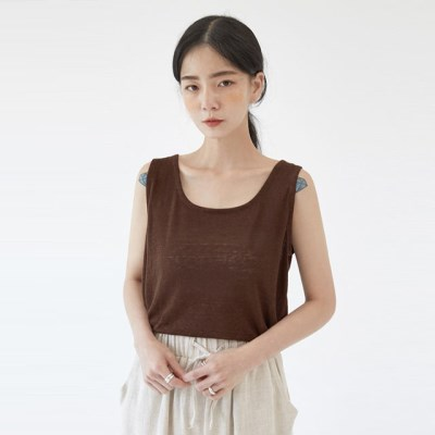 FRESH A linen square sleeveless_(1273539)
