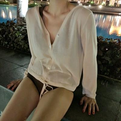 Hot summer hood cardigan_Y (린넨 20%)_(1330512)