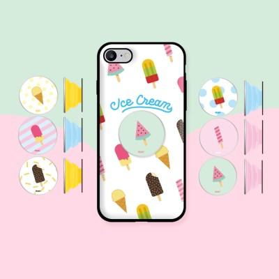 9C9C 썸머 아이스크림 오픈카드케이스+ 허브톡 (아이폰)