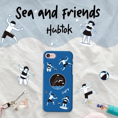 9C9C 썸머 씨앤프렌즈슬림케이스 + 허브톡 (갤럭시)