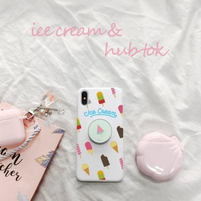 9C9C 썸머 아이스크림 슬림케이스+ 허브톡 (갤럭시)