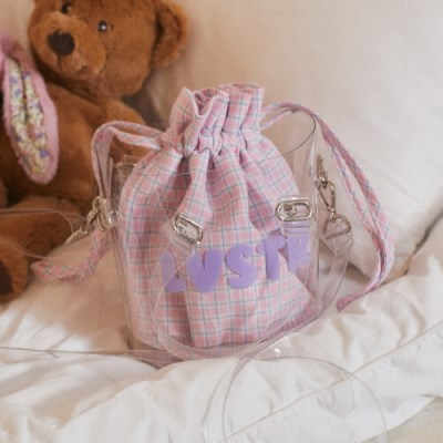 LU CHECK POUCH(PINK)_(4015570)