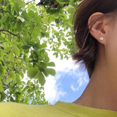 못난이 진주 미니 귀걸이(6월탄생석)