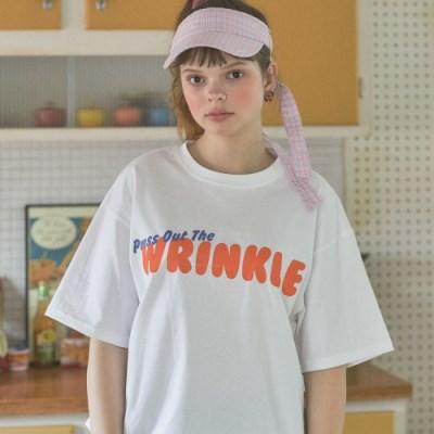 LU WRINKLE T(WHITE)_(4015698)