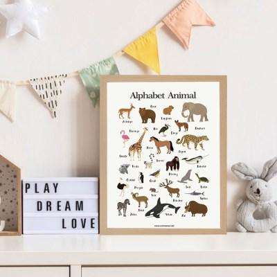 꼬레 학습 포스터 액자/아이방꾸미기 유아 벽보 그림 한글 숫자