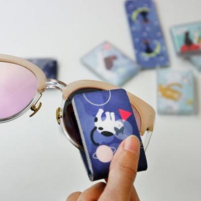 휴대용 포켓 초극세사 안경닦이 렌즈 클리너