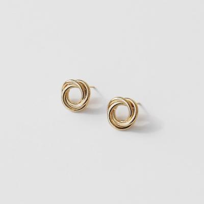 Infiniti circle earrings 中 (2colors)