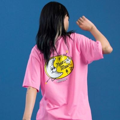 LOGO 1/2 T-SHIRT Neon Pink