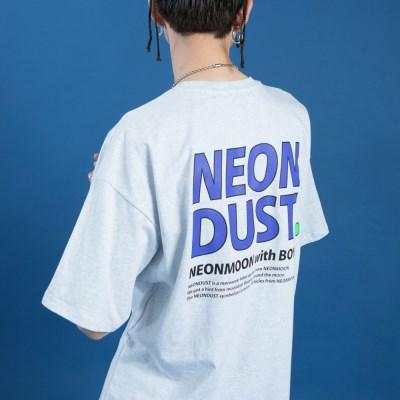 NEONDUST. 19SM 1/2 T-SHIRT Light Gray