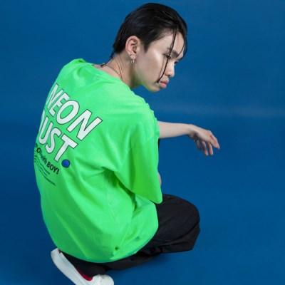 NEONDUST. 19SM 1/2 T-SHIRT Neon Green
