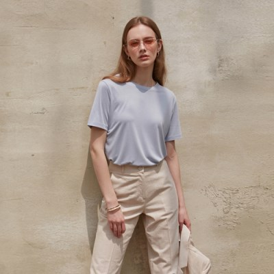 SOFT BASIC T-SHIRT_SKY BLUE