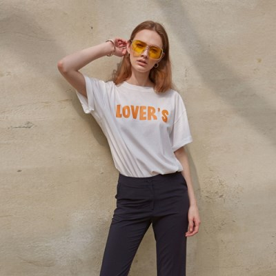 COLOR LETTERING T-SHIRT_IVORY