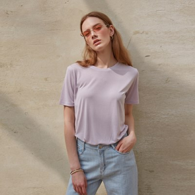 SOFT BASIC T-SHIRT_LIGHT PURPLE