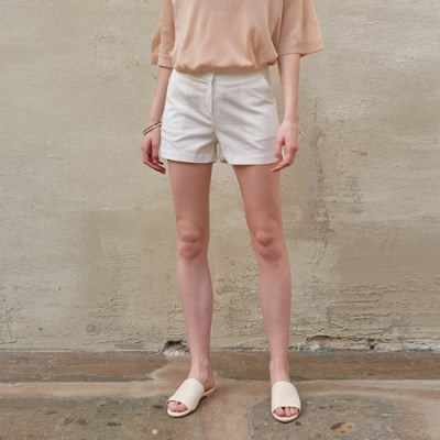 BASIC SLIT SHORT PANTS_IVORY