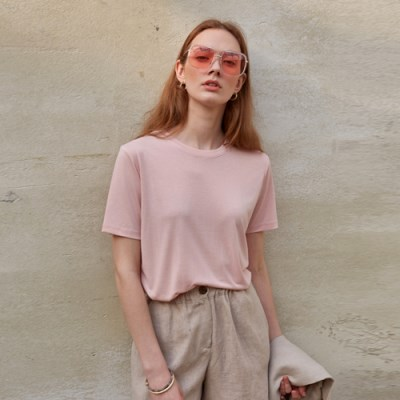 SOFT BASIC T-SHIRT_PINK