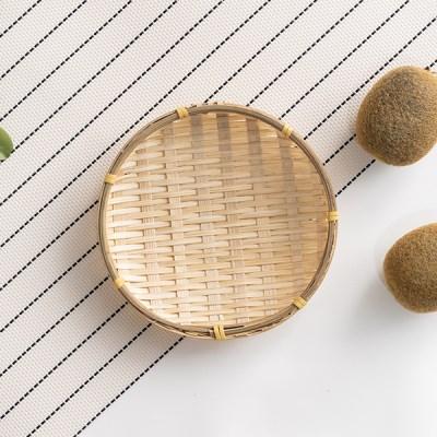 대나무 팝콘 미니 바구니 라탄 채반_(1018019)