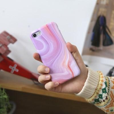 HP009 대리석 clam 핑크 하드 케이스