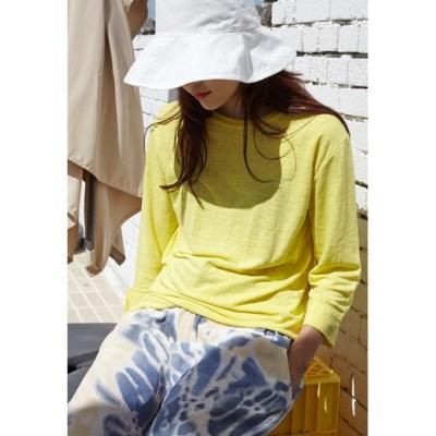 linen sweat tee (5colors,linen 55%)_(1337791)