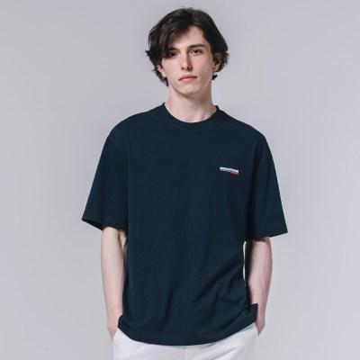 서퍼 나염 반팔 티셔츠 네이비_(3606034)