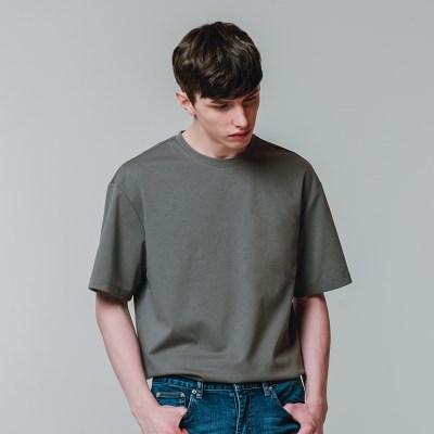 분또 반팔 기본 티셔츠 차콜_(3606030)