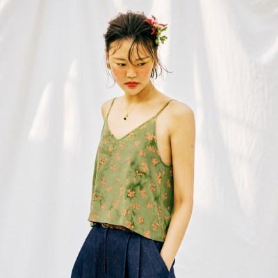 [Slip Top] Berry - Green