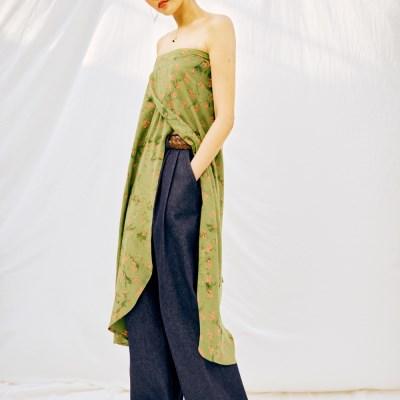 [Wrap Skirt] Berry - Green