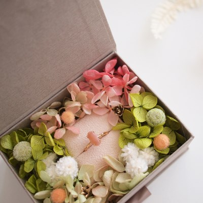 FLOWER RIBBON RING BOX / BLOSSOM
