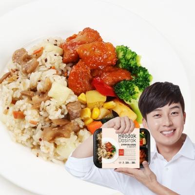 허닭 곤약도시락 곤약뿌리채소영양밥&숯불닭갈비맛