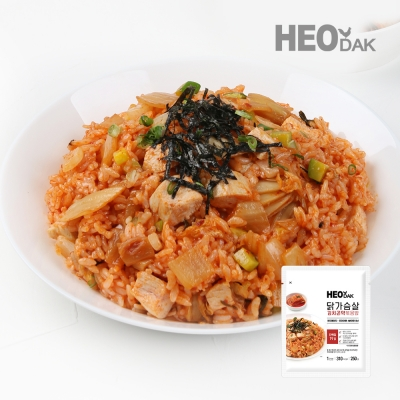 [허닭] 닭가슴살 김치 곤약 볶음밥 250g