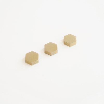 Memo Magnet Brass Octagon (Set of 3)
