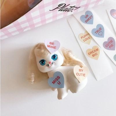 Message Heart Candy Sicker (13ea)