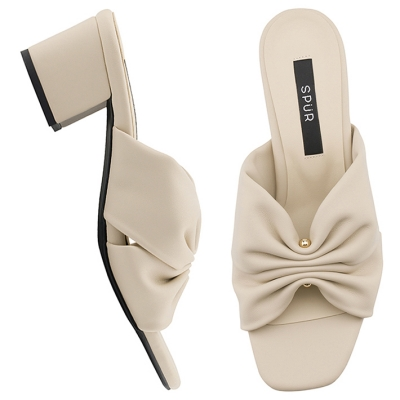 SPUR[스퍼] 뮬 OS7085 Pleats mule 베이지