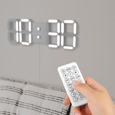 3D LED 무소음 대형 벽시계 무선리모콘 포함 LC3387