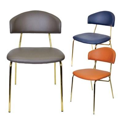 웨어하우스 뉴문 골드 철제 의자