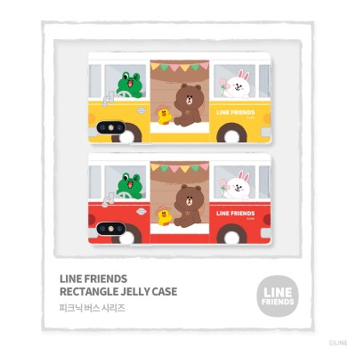 LINE FRIENDS정품 투명사각젤리 피크닉버스 시리즈