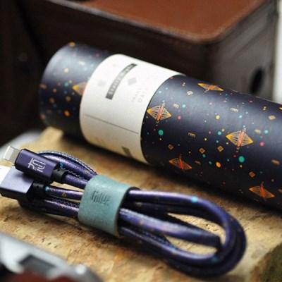 [별이 빛나는 밤] 고속 충전 USB케이블 (예쁜 케이스와 클립 포함)