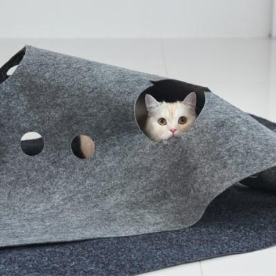 세븐펫 숨숨매트 고양이장난감 다용도 놀이터