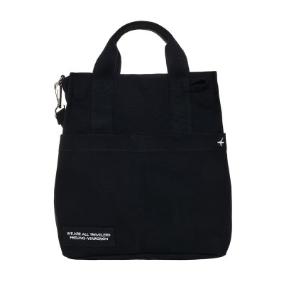 VIAMONOH DAILY CANVAS SHOULDER BAG (BLACK) 에코백 토_(1049044)