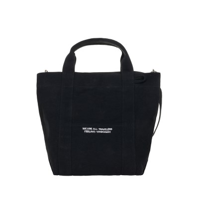 VIAMONOH DAILY TOTE CANVAS BAG (BLACK) 에코백 토트백_(1049042)