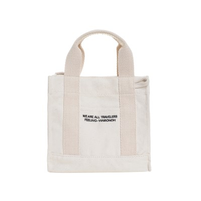 VIAMONOH DAILY MINI CANVAS BAG (IVORY) 에코백 토트백_(1049040)