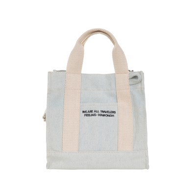 VIAMONOH DAILY MINI CANVAS BAG (DENIM) 에코백 토트백_(1049038)