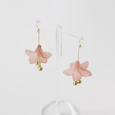 darling flower earrings (pink)