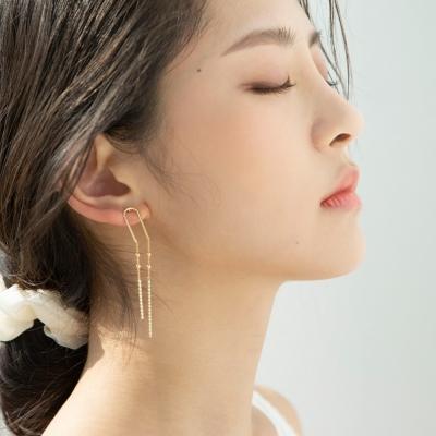 U bar drop earrings (2colors)