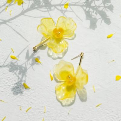 yellow blossom earrings