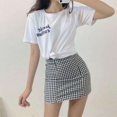 레터링 루즈핏 반팔 라운드 티셔츠