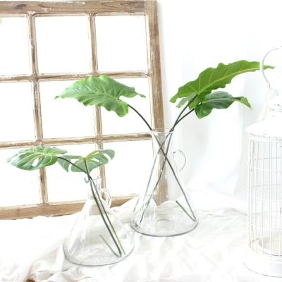 보태니컬 그린 잎 조화 가지 ver.1